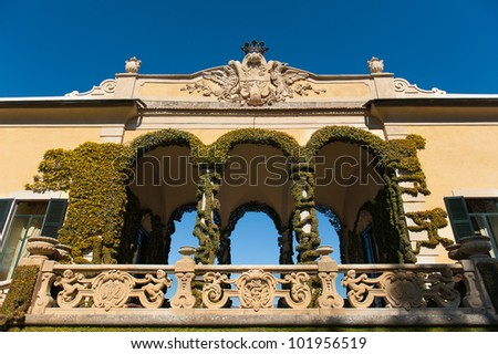 Villa Balbianello on Lake Como in northern Italy - stock photo