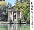 Villa Borghese Pinciana, Pincian Hill, Rome, Italy - high dynamic range HDR - stock photo