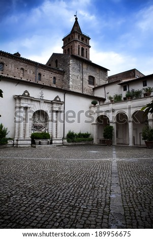 Villa d`Este , Tivoli, Italy - stock photo