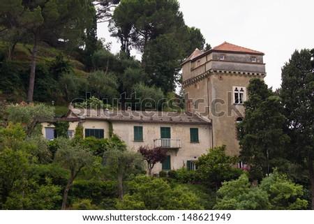 Villa in Portofino, Italy. - stock photo