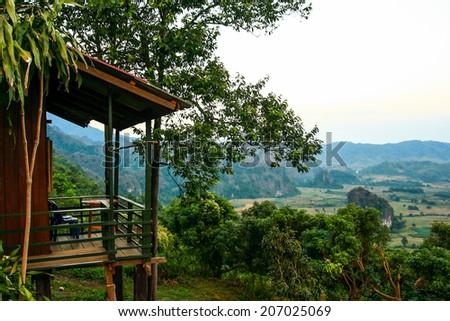 Villa on the Mountain - stock photo