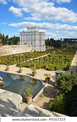 villa pamphili  and italian garden in rome