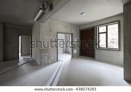 Villa rough housing, not decoration - stock photo