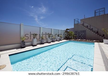 Villa with swimming pool-1 - stock photo