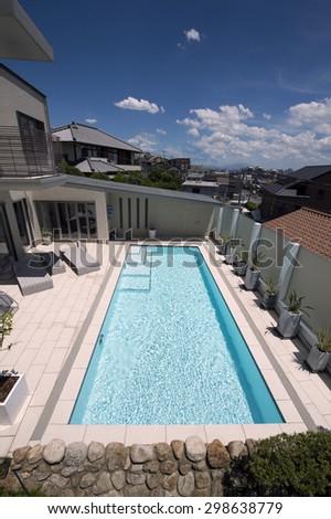 Villa with swimming pool-3 - stock photo
