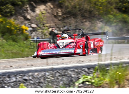 VILLABLINO, SPAIN - MAY 7 : Spanish driver Tono Varela whit Osella pa-20-s, races in Subida a Leitariegos, on May 7, 2011 in Villablino, Spain