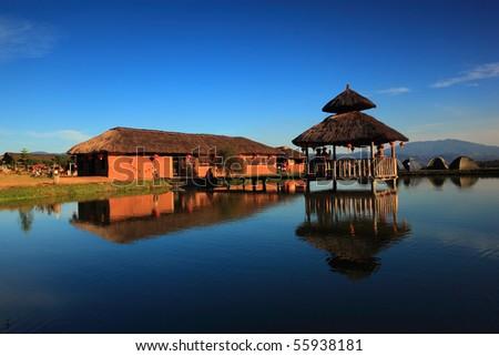 village - stock photo