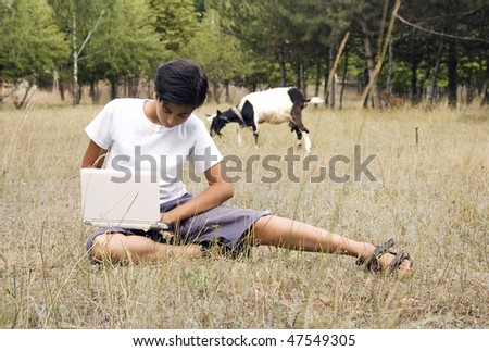 Village boy - stock photo