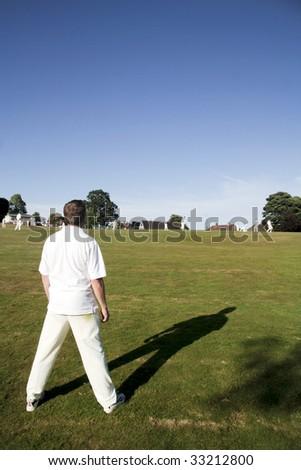 Village cricket - stock photo