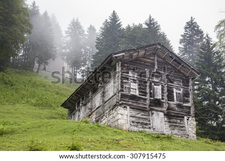 village house in turkey - stock photo