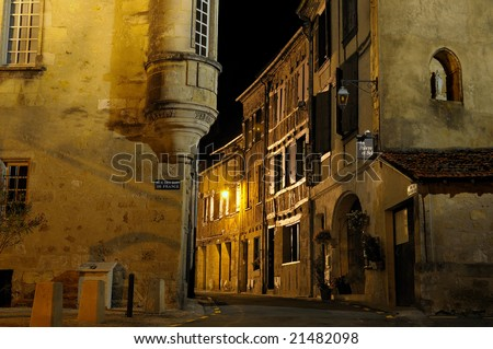 village in France Bergerac - stock photo