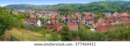Village in Serbia - panorama