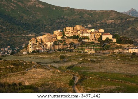 village in the corsican mountain