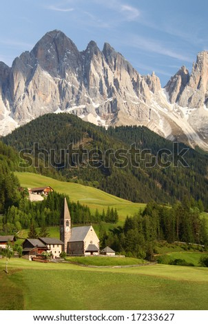Village in the European Alps
