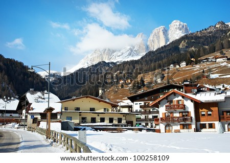 Village in the mountains of northern Italy