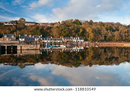 Village of Avoch on the Black Isle, Highlands of Scotland. - stock photo