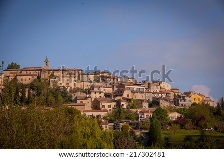 village of Dauphin, France