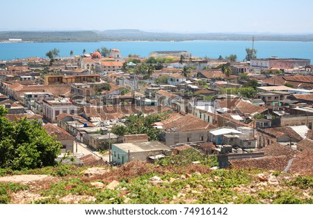 Village of Gibara in Cuba (in Holguin province). - stock photo