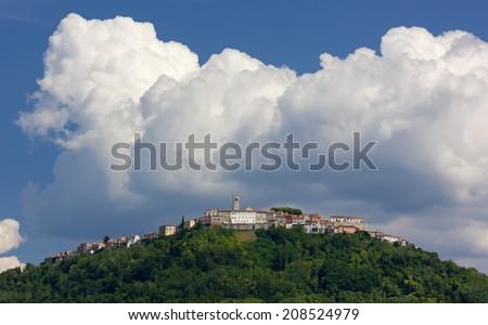 Village of Montona-Motovun in Central Istria, Croatia - stock photo