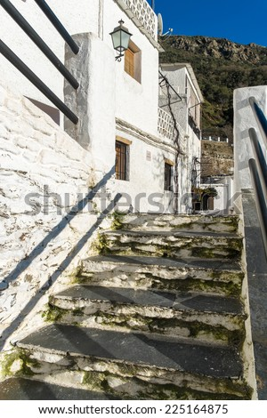 Village of Pampaneira, La Alpujarra, Andalusia, Spain - stock photo
