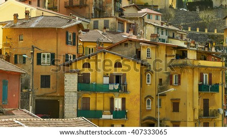 village of provence - stock photo