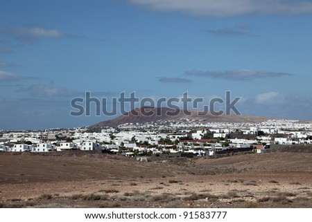 Village on Canary Island Lanzarote, Spain