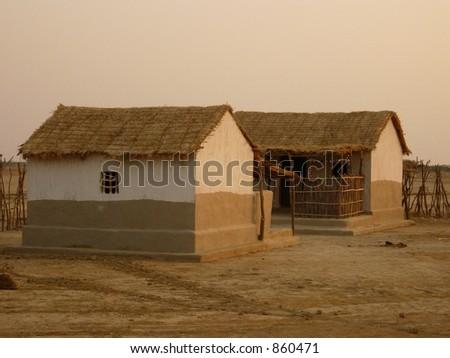 village scene - noise - stock photo