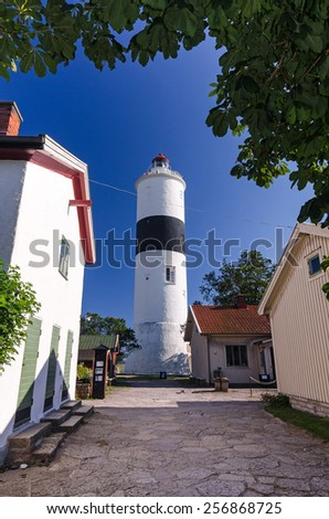 Village street view for Ottenby lighthouse