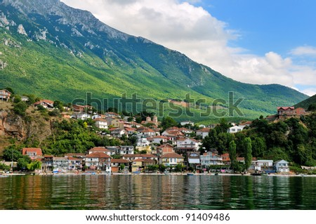 Village Trpejca, Ohrid lake, Macedonia - stock photo