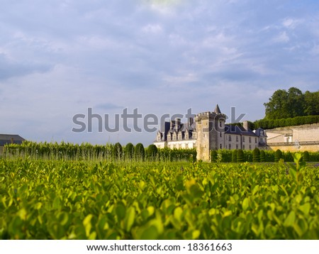 Villandry Castle from its garden