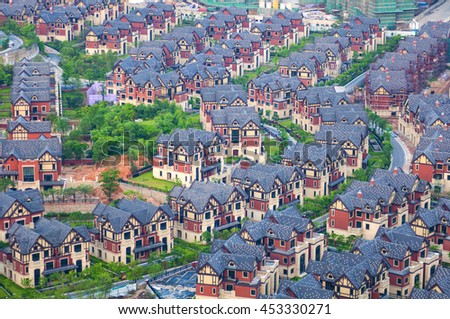 Villas - stock photo