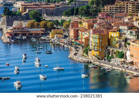 Villefranche-sur-Mer, near Nice and Monaco - stock photo