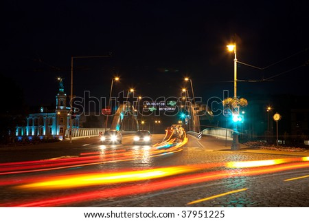 Vilnius at night / night traffic