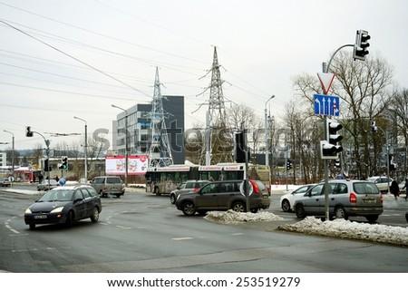 VILNIUS, LITHUANIA - JANUARY 8: Lesto energy distribution network in Lithuania on January 8, 2015, Vilnius, Lithuania.  - stock photo