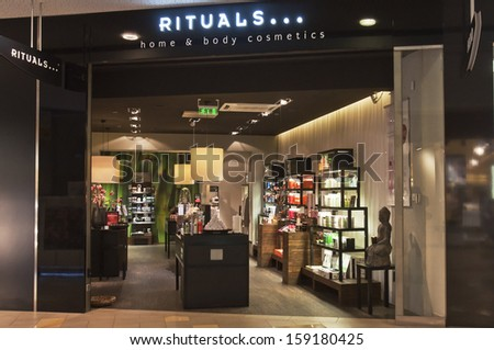VILNIUS, LITHUANIA - OCTOBER 14: RITUALS store on October 14, 2013 in Vilnius, Lithuania.