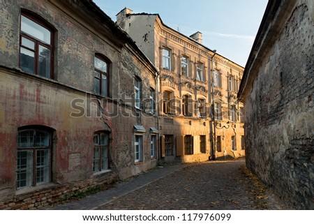 Vilnius old town street - stock photo
