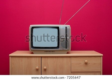 Vinatge TV set - stock photo