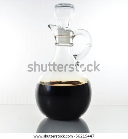 vinegar bottle - stock photo