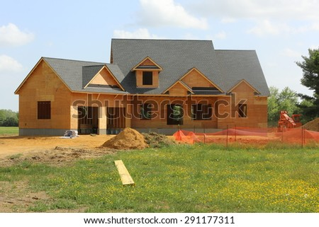 Vineland, New Jersey, June 23, 2015: New homes sales have increased over the past three months due to lower interest rates being offered for urban areas in Vineland. - stock photo