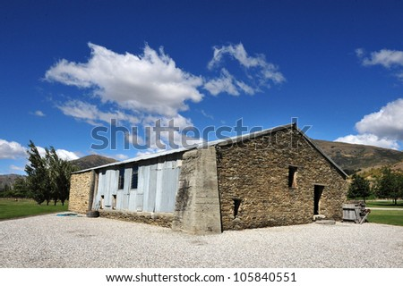 Vineyard building, South Island, New Zealand. - stock photo
