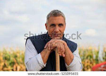 Vineyard worker - stock photo