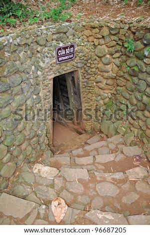 Vinh Moc tunnel. Vinh Moc is a tunnel complex in Quang Tri, Vietnam. During the Vietnam War it was strategically located on the border of North Vietnam and South Vietnam.