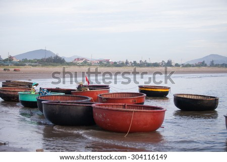 Vinh, VIETNAM - JUNE 14: An unidentified fisherman worked in fishing village of Cua Lo, Vinh