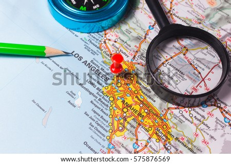 Travel Concept Navigation You Here International Stock Vector - Us travel planning map