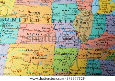 Lansing Usa Circa May Map Stock Photo Shutterstock - Us road atlas map