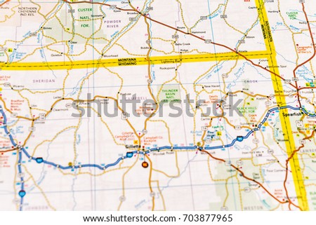 Colorado State Road Map Interstates Us Stock Vector - Map of usa with interstates