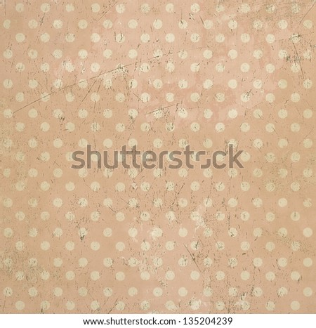 Vintage abstract background, polka dots, grunge texture - stock photo