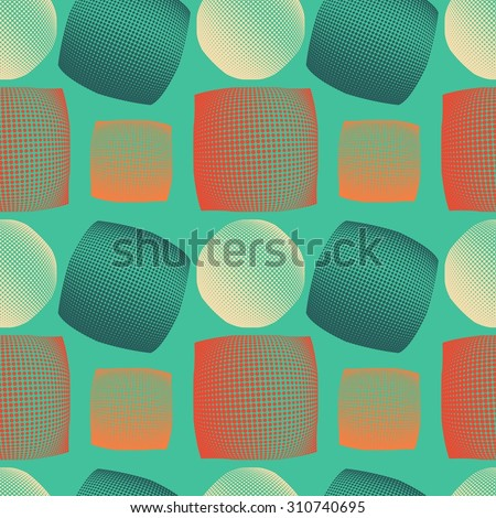 Vintage abstract seamless pattern. seamless pattern with geometric shapes. Raster version - stock photo
