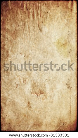 Vintage aged old paper. - stock photo
