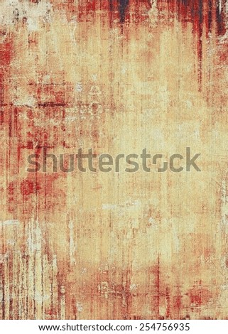 Vintage aged texture, colorful grunge background with space for text or image. With different color patterns: yellow (beige); brown; gray; red (orange) - stock photo